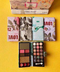 پالت آرایشی مسافرتی دو صفحه طرح برج ایفل Matte Professional Make-up Kit Two plate