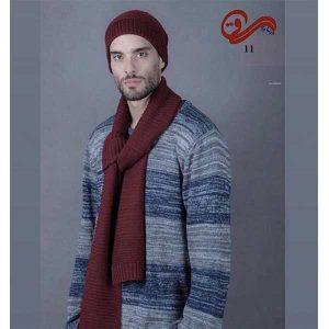 شال گردن و کلاه راه راه لیس لیس Stylish Fashion Winter beanie&Scarf