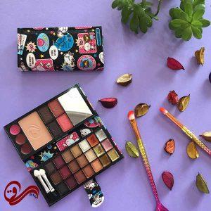 پالت آرایشی مسافرتی 2 صفحه طرح پاندا Matte Professional Make-up Kit Two plate