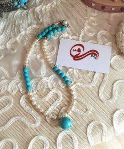 گردنبند زنانه فیروزه اصل Women's Necklace Turquoise Stone