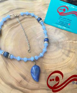 گردنبندزنانه سنگ لاجورد اصل Women's Necklace stone lazuli