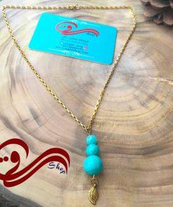 گردنبند زنانه سنگ فیروزه استیل women's Necklaces still ston firozeh