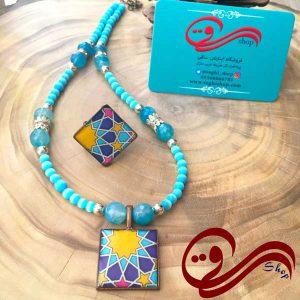 نیم ست زنانه گردنبند و انگشتر آکوامارین Woman Set Necklaces and Ring Aquamarine