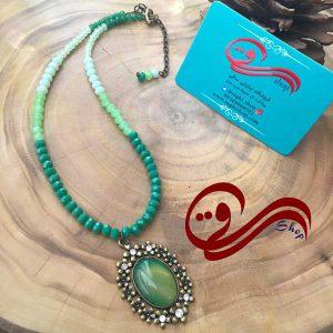 گردنبند زنانه کریستال سبز Women Necklaces Green