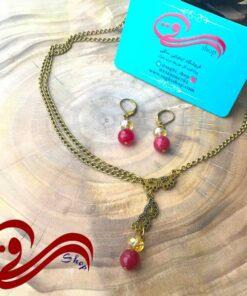 نیم ست زنانه گردنبند و گوشواره نقاب Women set earring and necklaces