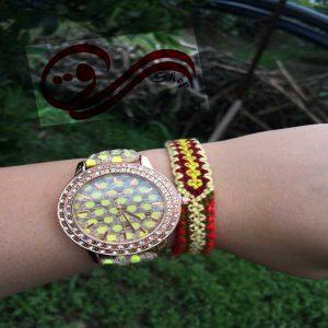 دستبند رنگی دوستی بافت