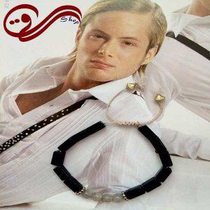 دستبند مردانه سنگ مشکی مکعبی MEN Bracelet