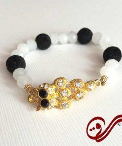 دستبند دخترانه کشی جغد کریستالی Girl's Bracelet Crystal