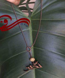 گردنبند زنانه چوبی اسم نگین Women Necklaces Wooden Name Negin