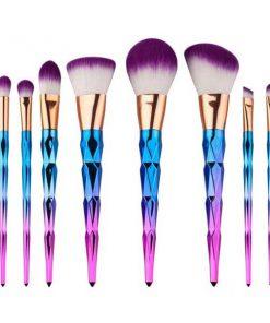 براش آرایشی 12 تایی طرح الماس Diamond Make up Brush 12 set