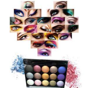 پالت آرایشی مسافرتی دو صفحه ای طرح رز Matte Professional Make-up Kit Two plate