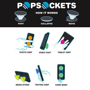 پاپ سوکت فلس آبی Blue Scale Pop Socket