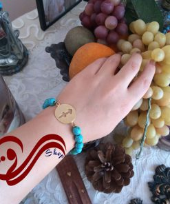 دستبند ماه تولد نقره