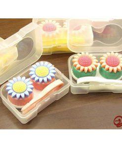 پک لنز کامل فانتزی طرح گل آفتابگردان Eyecontact Pack Sunflower Design Plastic