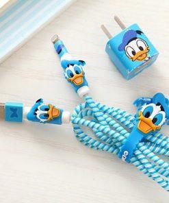 پک محافظ کابل شارژ بدون کیف اردک آبی Usb Cable Protector Blue Duck