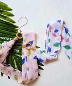بند موبایل بلند پارچه ای برگ Leaf Phone neck Strap