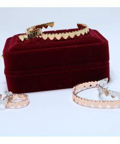 نیم ست دستبند و انگشتر طرح قلب