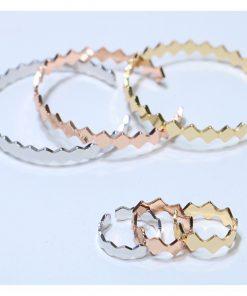 نیم ست دستبند و انگشتر طرح لوزی