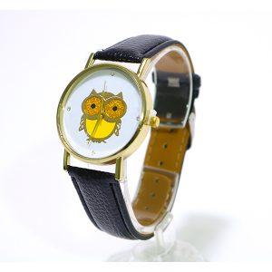 ساعت جغد چرم