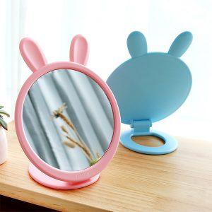 آینه رومیزی خرگوشی پایه دار