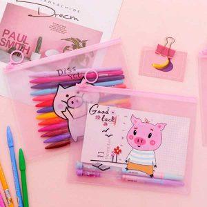 پوشه طلقی خوک Pig File Document Paper bag Pencil case