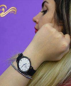ساعت مچی بند کتان ساده