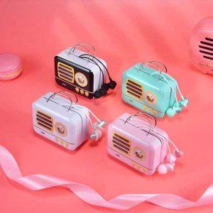 هندزفری با کیف طرح رادیو handsfree white bag Radio