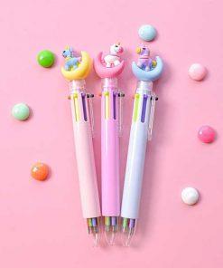 خودکار ۶ رنگ یونیکورن ماه Moon Unicorn Pen