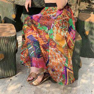 دامن حریر مجلسی طرح مصری Hariri skirt design Egypt