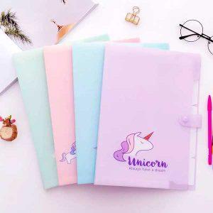 پوشه کلاسری یونیکورن Folder Unicorn