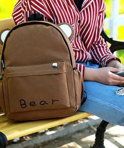 کوله پشتی کتان طرح حیوانات Flax Animal mini backpack