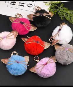 جاسوئیچی و آویز پشمی گربه Cat Fantasy Wool Keychain