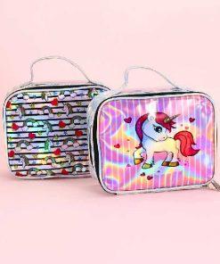 کیف آرایشی هولوگرامی یونیکورن Unicorn Hologram Makeup bag