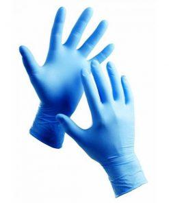 دستکش نیتریل آبی بسته 100 عددی