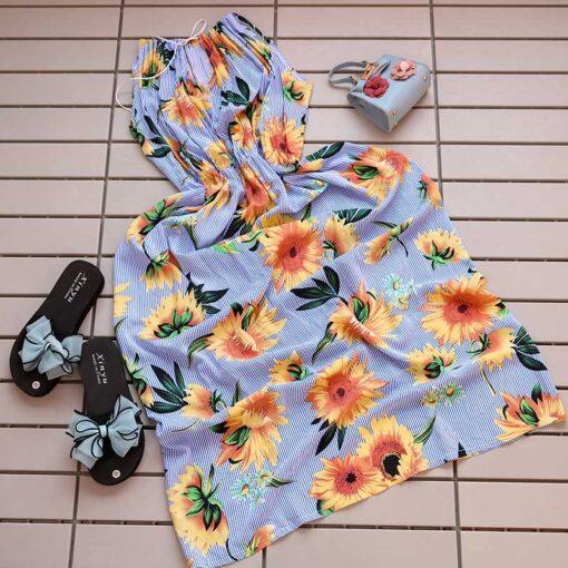 پیراهن ساحلی آفتابگردون